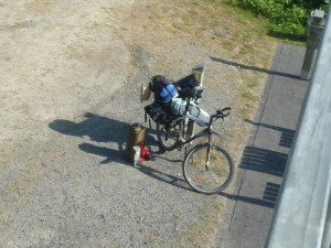 ehem. Bahnstrecke, mein Fahrrad