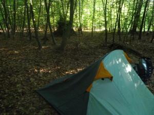 Mein Schlafplatz im Wald